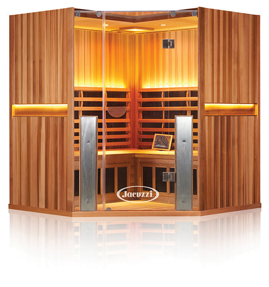 Clearlight Sanctuary 4 Person Corner Sauna - Image1